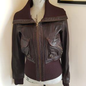 Size small Browm Danier leather jacket